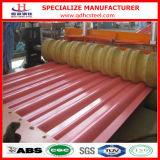 Prezzo d'acciaio galvanizzato ricoperto della lamiera sottile del tetto di colore rosso