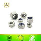 Contre-écrou en nylon d'insertion d'acier inoxydable