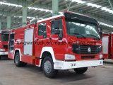 Tipo caminhão da espuma do tipo de HOWO do salvamento do incêndio