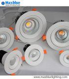 L'appareil d'éclairage enfoncé par projecteur économiseur d'énergie de Downlight de plafonnier du plafonnier DEL vers le bas Light/LED s'allument vers le bas