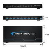 Un interruttore Port di 8 HDMI per la visualizzazione profonda completa di colore HD di HD 1080P su 8 TV
