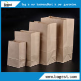 Papel De Color Natural Kraft Bolsa para la alimentación de papel Bolsa de la compra