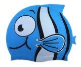 Historieta de Colorfulworldstore que nada el sombrero del casquillo de la nadada de los pescados del silicón de los Casquillo-Niños Casquillo-Encantadores de la natación