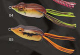 Señuelo suave de la rana del tamaño dos los 6.0cm los 3.5cm
