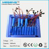3.7V 2600mAh 18650 nachladbare Batterie mit Verbindungsstück