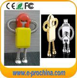 Movimentação modelo do flash do USB do metal do robô relativa à promoção (EM059)