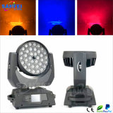 36PCS*10W RGBW 4in1 LED 초점 이동하는 맨 위 세척 빛