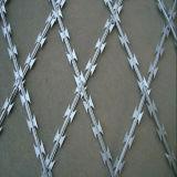 Galvanisierter Rasiermesser-Stacheldraht-Ineinander greifen-Zaun