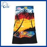 Tovagliolo di spiaggia di stampa del velluto (QH011092)