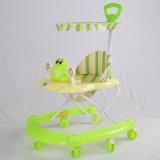 Pushbarおよびおおいを持つ極度のすばらしい新しいモデルの赤ん坊の歩行者