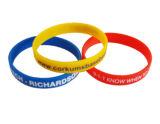 Bracelet fait sur commande respectueux de l'environnement de silicones pour promotionnel