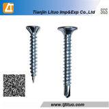 나팔 인산 처리되는 맨 위 건식 벽체 나사 검정 또는 도금되는 아연 (DIN18182)
