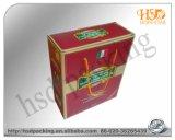Caja de papel de empaquetado del vino de lujo de Hotsale