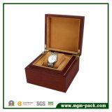 Caixa de relógio de madeira personalizada de alta qualidade com travesseiro