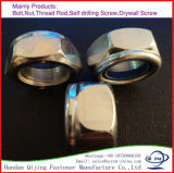 Écrou de blocage en nylon en nylon blanc de garniture intérieure de l'écrou de blocage DIN985 d'individu de boucle DIN 985/de boucle DIN 982 bleus