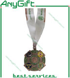 3D in lega di zinco Medal con Antique Brass Plating