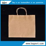 食糧ペーパーショッピング・バッグのための自然なカラークラフト紙袋