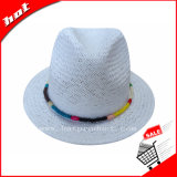 Белый шлем женщины шлема Sun шлема Fedora
