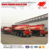 Remorque de camion-citerne d'acier inoxydable de Tri-Essieu pour la charge d'acide sulfurique