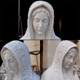 Het hand-gesneden Standbeeld Maagdelijke Mary Ms-908 van Carrara van het Graniet van de Steen van het Beeldhouwwerk Marmeren Witte