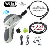 Witson Handheld serpiente Alcance Cámara impermeable WiFi Endoscopio Connect en iPhone iPad Android (W3-CMP3813WX)
