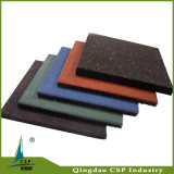 容易屋外のためのゴム製床タイルの正方形のゴム製タイルをインストールしなさい