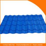Il tetto della lamiera di acciaio di colore ha lustrato il rullo delle mattonelle che forma la macchina
