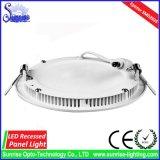 AC85-265V Epistar 15W runde vertiefte LED Panel-Deckenleuchte