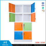 Mingxiuのオフィス用家具の販売/8つのドアの鋼鉄ロッカーのための使用された学校のロッカー