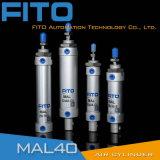Mal 시리즈 Airtac 유형 소형 압축 공기를 넣은 둥근 공기 실린더