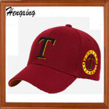 カスタム刺繍の100%年の綿6つのパネルの野球帽
