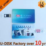Movimentação deslizante quente do flash do USB do cartão de crédito (YT-3109L)
