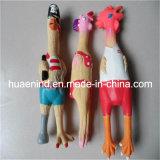 Quietschendes Latex-Huhn-Hundespielzeug