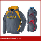 Custom Wholesale Blank Pullover Hoodies Men with Own Logo Bordado (T84)