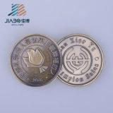 2016年の製造所の生産の金の金属の安いカスタム挑戦記念品の硬貨