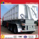 Semi-remorque à bascule hydraulique Semi-remorque à camion lourd