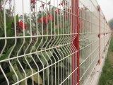La plastica verde ha ricoperto il pannello della rete fissa saldato obbligazione della rete metallica