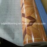 Renforcer le plancher résistant de PVC avec le feutre desserrant le linoléum bon marché des prix