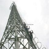 Auto - torre de aço da telecomunicação do ângulo de apoio