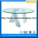 10mm Silkscreen Printing Glass Table