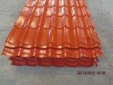 aço galvanizado ondulado Pre-Painted 0.14mm-0.8mm do metal das chapas de aço material