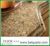 Pedra projetada de quartzo da cor silicone múltiplo