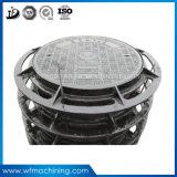 Couverture de trou d'homme malléable ronde résistante à la corrosion travaillée de fer de moulage de la couverture de trou d'homme de bâti de fer de sable d'OEM En124 A15 B125 C250 D400 E600 F900