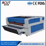 машина резца системы лазера 130W Automactic подавая для бумаги, древесины, ткани