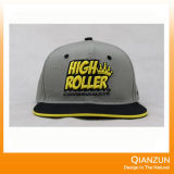 Chapéu liso novo do Snapback da borda 3D Embroiderey