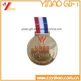 亜鉛合金の金属は遊ばすカスタマイズされたリボン(YB-LY-C-02)が付いているメダルを