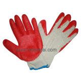 Guante cubierto látex liso barato caliente del trabajo de los guantes de la exportación de Polonia