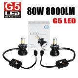 Lumen superiore 18 mesi di indicatore luminoso capo 9006 LED della garanzia 80W 8000lm 9V-36V H1 H3 H7 9005 per il faro dell'automobile LED