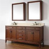 Cabina de cuarto de baño doble de madera del lavabo de la alta calidad