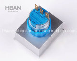 CE RoHS de Hban (22mm) Momentary Latching com o Clean acima de Symbol Push Button